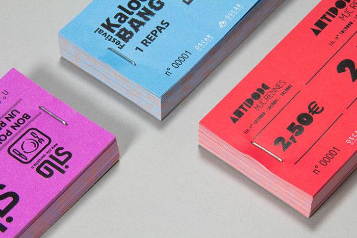 Tickets tombola, ticket bar ou restauration numérotés - Oscar Productions Nantes billetterie et gestion d'accès sécurisée