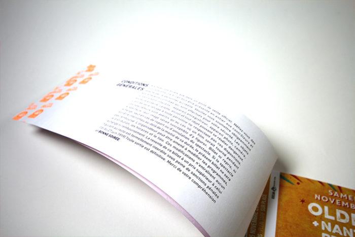 Billet Oscar couleur Verso Conditions Générales de Vente CGV