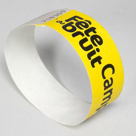 Bracelet Tyvek personnalisé à fermeture définitive - Oscar Productions Nantes billetterie et gestion d'accès sécurisée