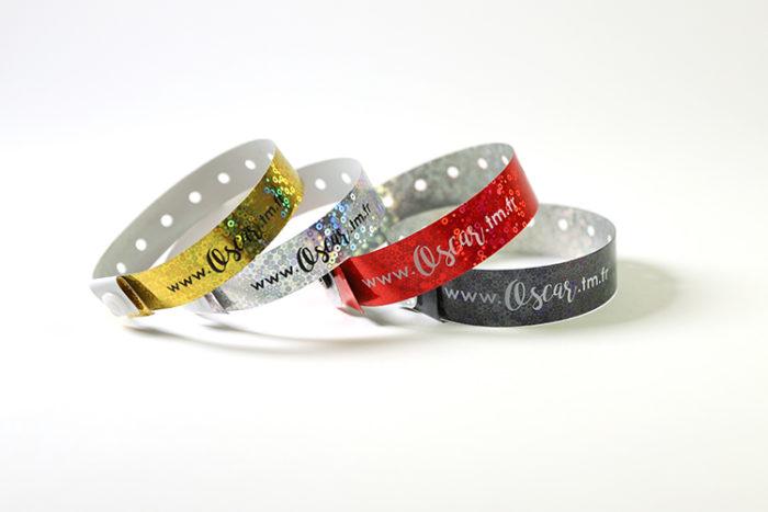 bracelets-holographiques-imprimés-or-argent-rouge-noir