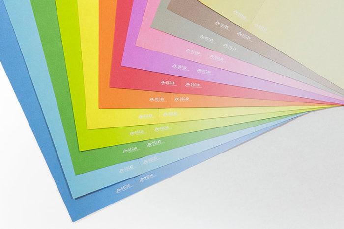 Fonds de couleurs pour billetterie imprimée - Oscar Productions Nantes billetterie et gestion d'accès sécurisée