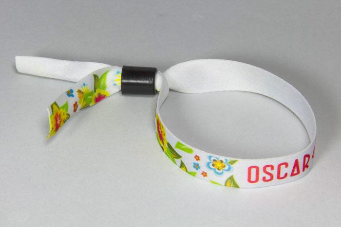 Bracelet polyester imprimé en sublimation - Oscar Productions Nantes billetterie et gestion d'accès sécurisée