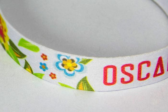 Bracelet polyester imprimé en couleur- Oscar Productions Nantes billetterie et gestion d'accès sécurisée