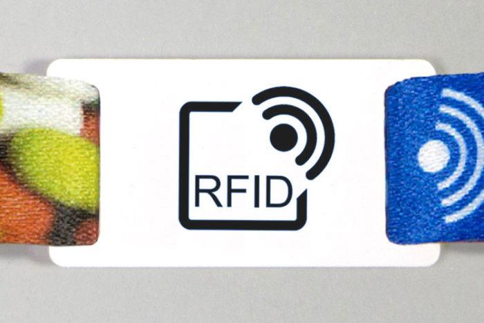 Passant pour bracelet RFID