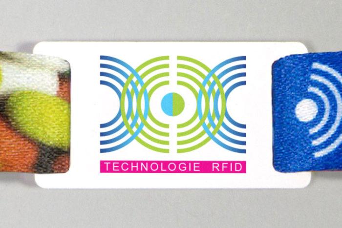 Passant pour bracelet RFID imprimé en couleur
