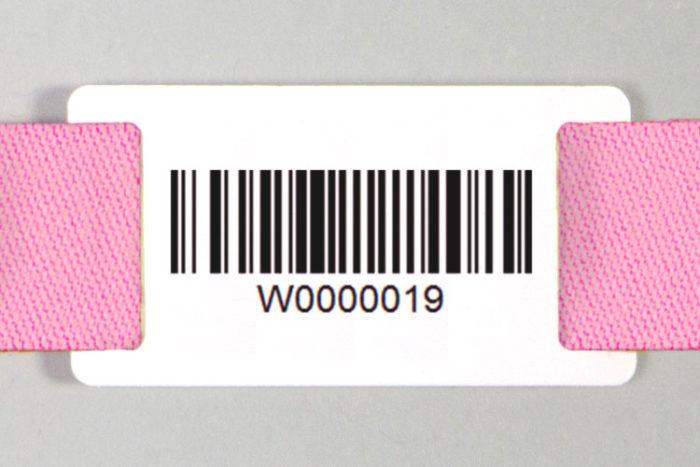 Passant pour bracelet avec Code-barres