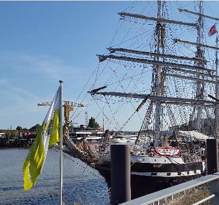 Le Belem à quai - Nantes