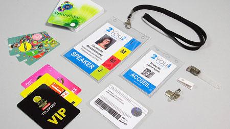 Cartes et badges d'accès personnalisés