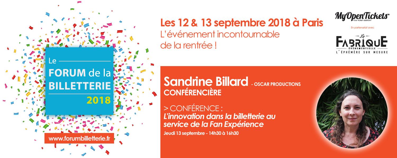 Conférence Forum de la Billetterie