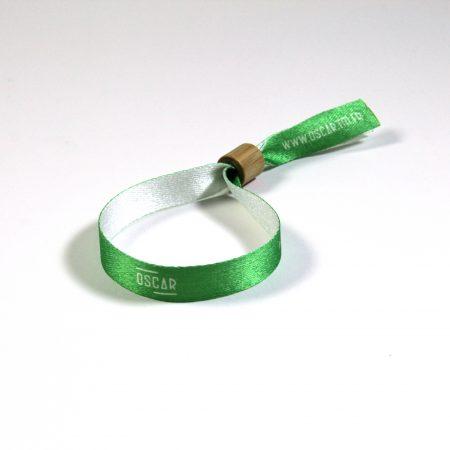 bracelet tissu polyester recyclé et bague bambou