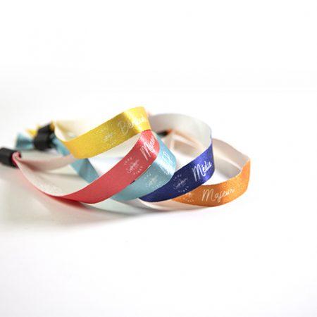 5 bracelets d'identification en polyester recyclé