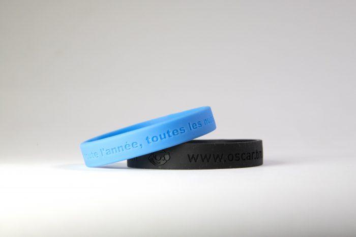 bracelets silicone gravés