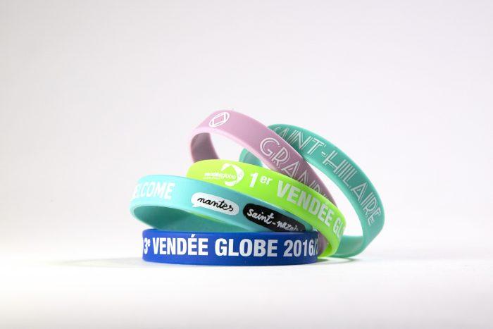 bracelets silicone sérigraphie 1 et 2 couleurs