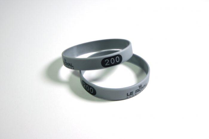 bracelets silicone numérotés