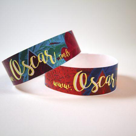 Bracelets papier indéchirable quadri OSCAR