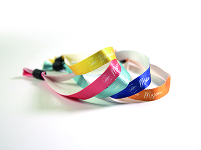Bracelets festival recyclés
